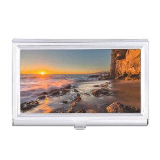 Sunset at Victoria Beach Business Card Holder
