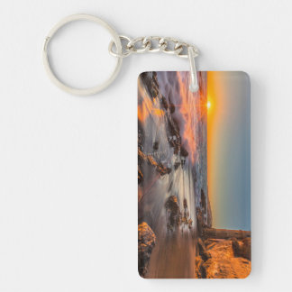 Sunset at Victoria Beach Double-Sided Rectangular Acrylic Key Ring