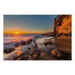 Sunset at Victoria Beach Poster