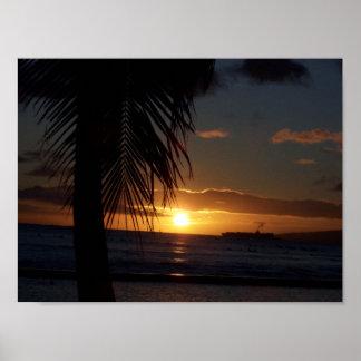 Sunset at Waikiki Poster