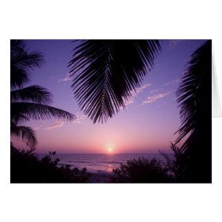 Sunset at West End, Cayman Brac, Cayman Islands, Greeting Card