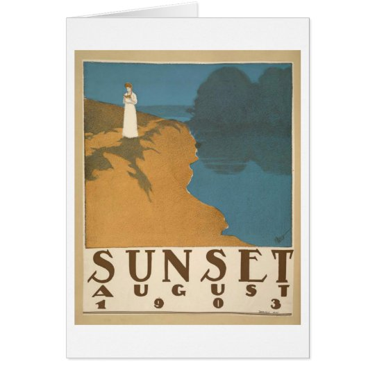 Sunset August 1903 notecard