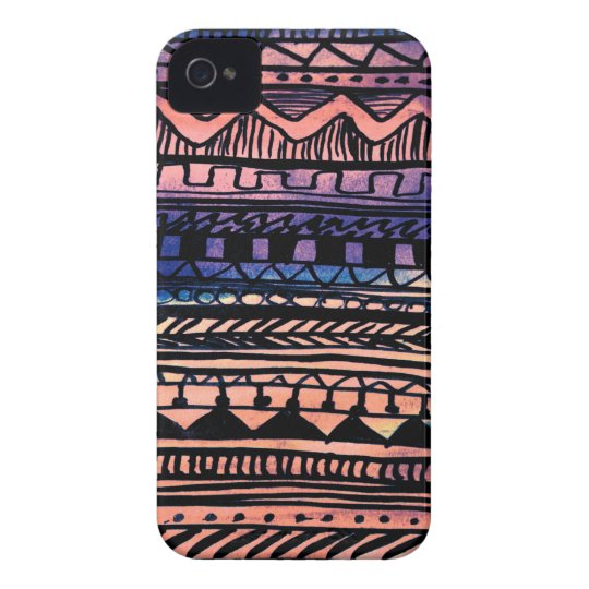 Sunset Aztec Pattern iPhone 4 Cases