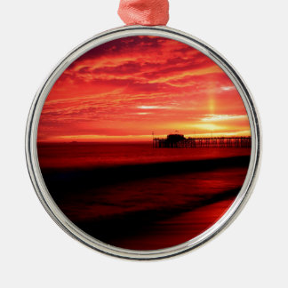 Sunset Balboa Pier California Christmas Ornament