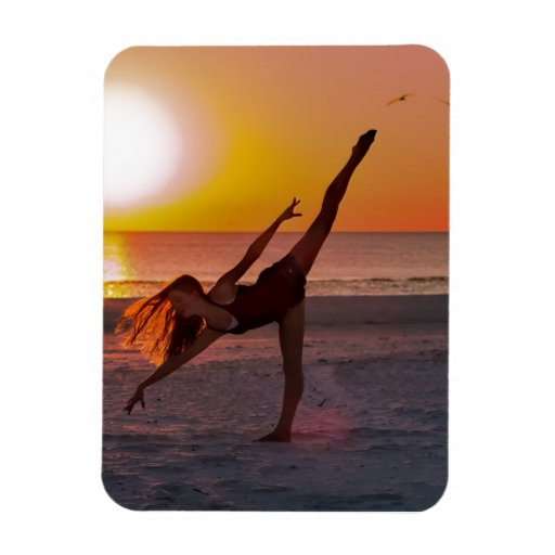 Sunset Ballet Magnets