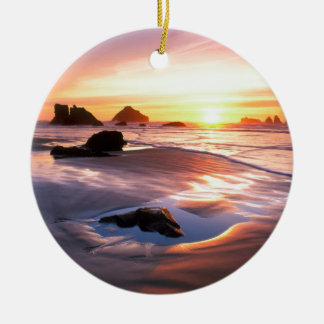 Sunset Bandon Oregon Christmas Ornament