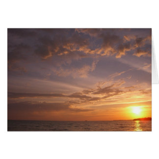 Sunset Bay V Providenciales Turks and Caicos Note Card