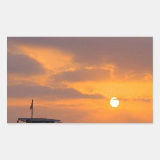 Sunset Baywatch Rectangular Sticker