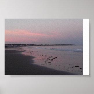 sunset beach #1 poster