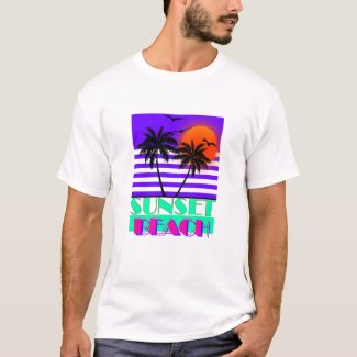 Sunset Beach Miami Vice Style T-shirt for Men