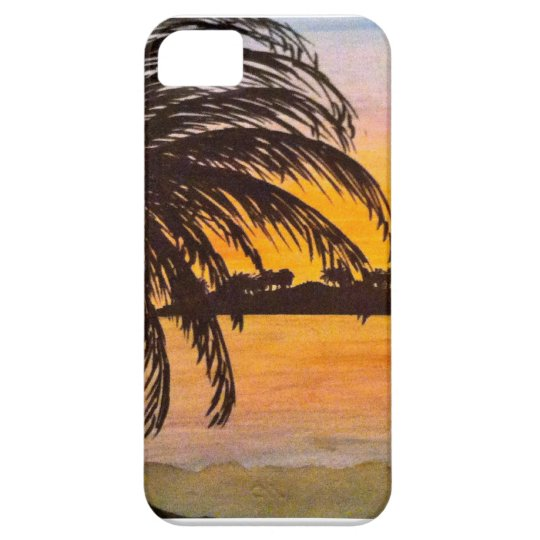 sunset beach barely there iPhone 5 case