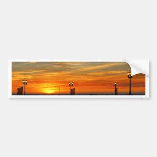 Sunset beach bumper stickers