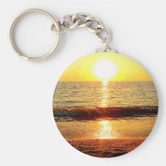 Sunset beach, Cape May NJ Basic Round Button Key Ring