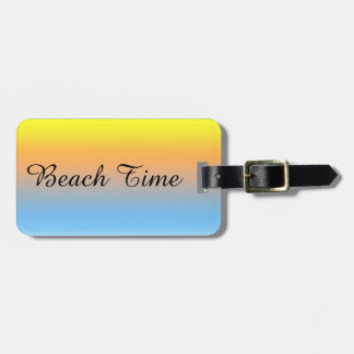 Sunset Beach Colours with Personalised Luggage Tag