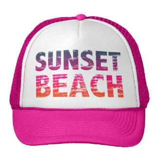 sunset beach distressed vintage vacation retro 80s cap