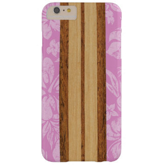 Sunset Beach Faux Wood Surfboard Hawaiian Barely There iPhone 6 Plus Case