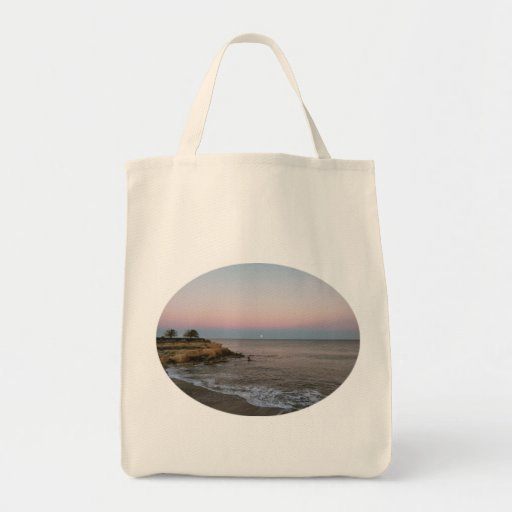 Sunset Beach Grocery Tote by IreneDesign2011 Grocery Tote Bag