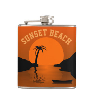Sunset Beach Hip Flask