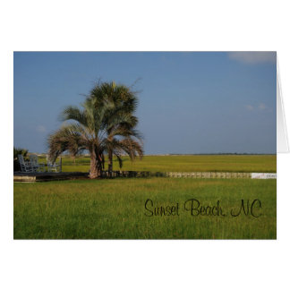 Sunset Beach North Carolina Notecard Stationery Note Card