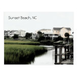 Sunset Beach North Carolina Postcard
