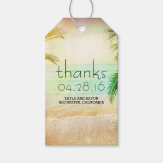 Sunset Beach Palms Wedding Thank You