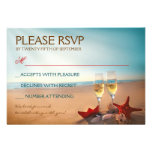 Sunset Beach Romantic Wedding RSVP Personalised Announcements