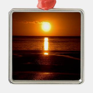 Sunset Beach Scene.JPG Christmas Ornament