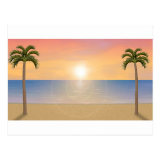 Sunset Beach Scene: Postcard