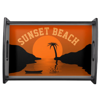 Sunset Beach Serving Tray
