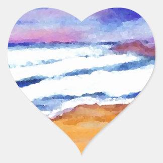Sunset Beach Surf Ocean Waves Decor Gifts Art Stickers