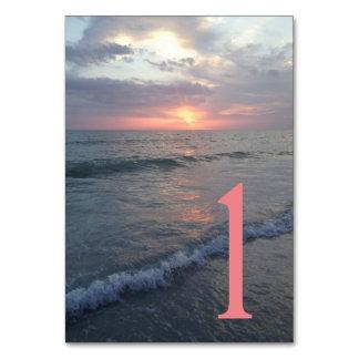 Sunset Beach Table Card