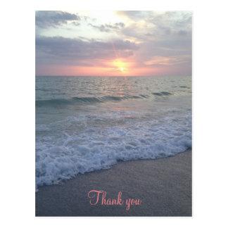 Sunset Beach Thank You Postcard