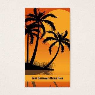 Sunset Beach Tropical Silhouette Palm Trees