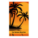 Sunset Beach Tropical Silhouette Palm Trees Pack Of Standard Business Cards