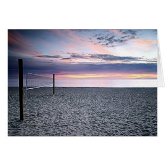 Sunset Beach Volleyball Greeting Card