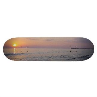 Sunset Beach Waves, Serene and Peaceful Coast 21.6 Cm Old School Skateboard Deck