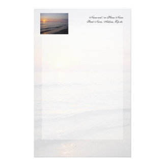 Sunset Beach Waves, Serene and Peaceful Coast Customised Stationery