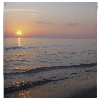Sunset Beach Waves, Serene and Peaceful Coast Napkin