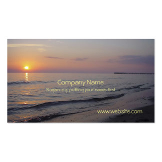 Sunset Beach Waves, Serene and Peaceful Coast Pack Of Standard Business Cards