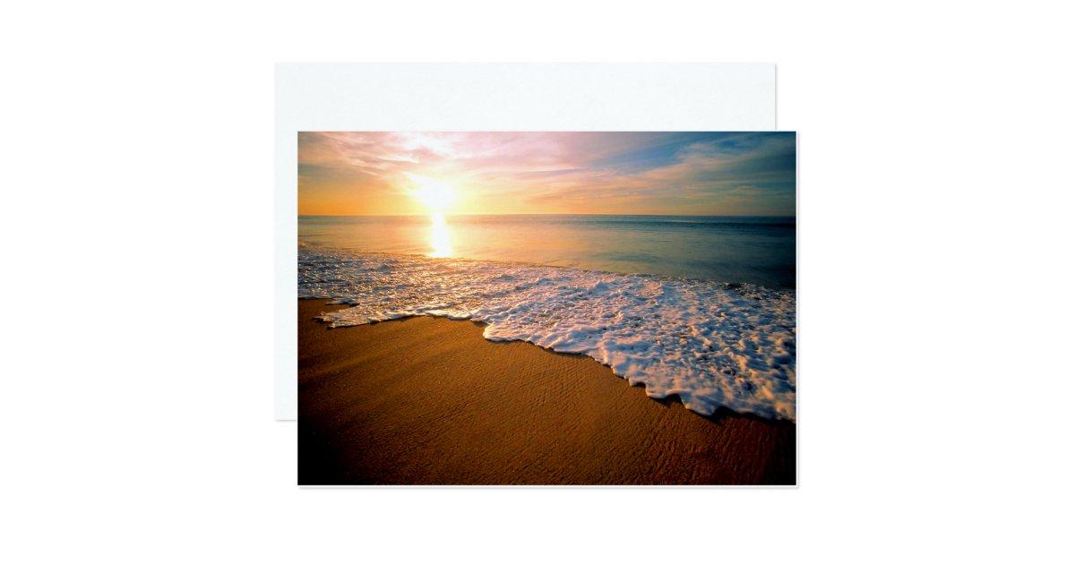 Sunrise Wedding Invitations: Sunset Beach Wedding Invitation