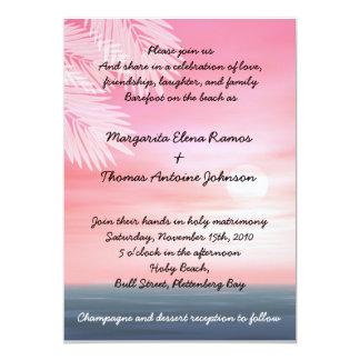Sunset Beach Wedding Invitation or announcement
