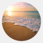 Sunset Beach Wedding Party Favour Sticker
