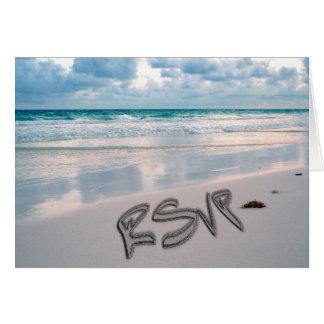 Sunset Beach Wedding RSVP Greeting Card