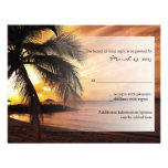 Sunset Beach Wedding RSVP Personalized Announcement