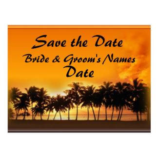 Sunset Beach Wedding Set Postcard