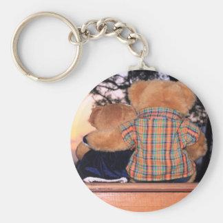 Sunset Bear Keychain