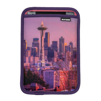 Sunset behind Seattle skyline from Kerry Park. iPad Mini Sleeve
