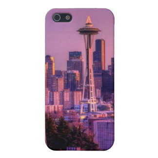 Sunset behind Seattle skyline from Kerry Park. iPhone 5/5S Cases