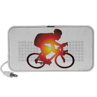 Sunset Bicycle Rider Portable Speaker