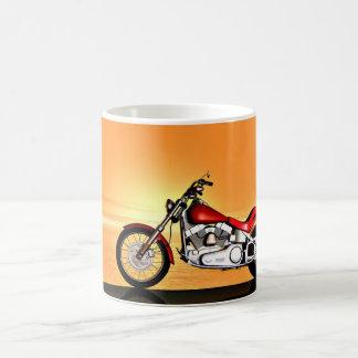 Sunset bike coffee mug